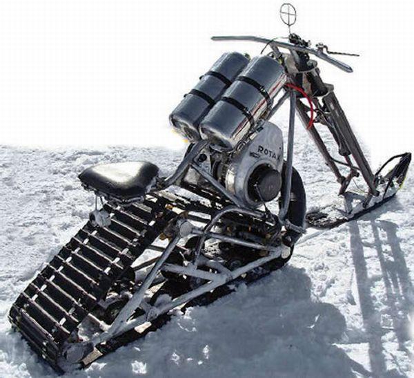 Своими руками мотоцикл на гусеницах
